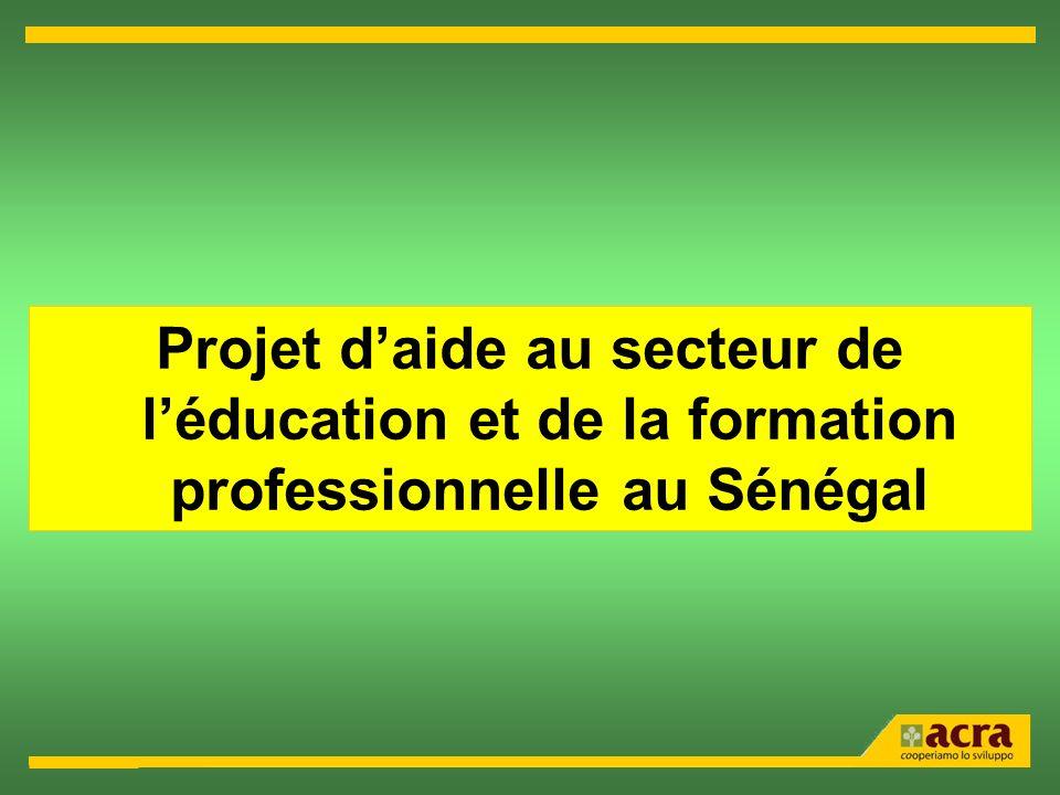 Projet d'aide au secteur de l'éducation et de la formation professionnelle au Sénégal