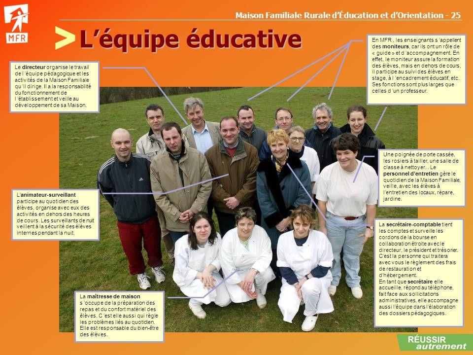 L'équipe éducative >