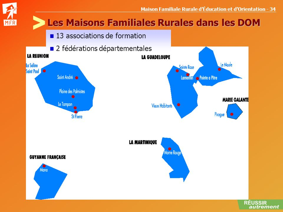 Les Maisons Familiales Rurales dans les DOM