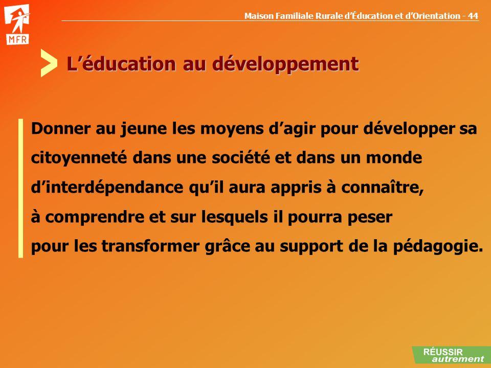 L'éducation au développement