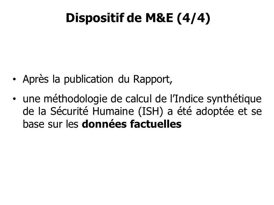 Dispositif de M&E (4/4) Après la publication du Rapport,