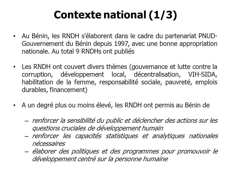 Contexte national (1/3)