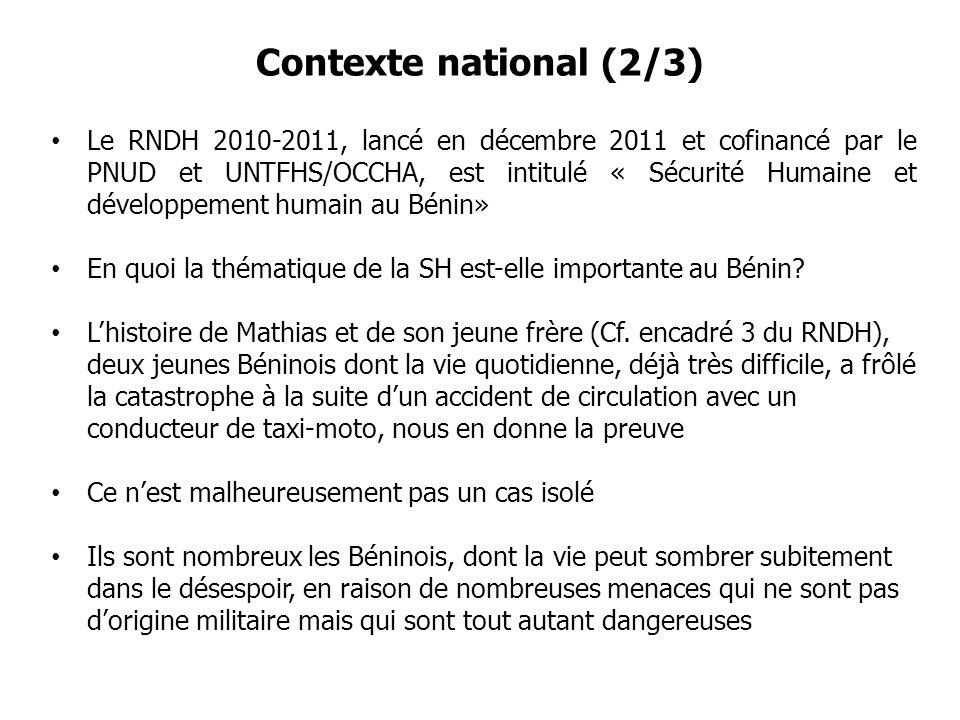 Contexte national (2/3)