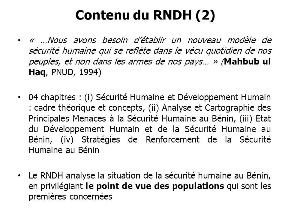 Contenu du RNDH (2)
