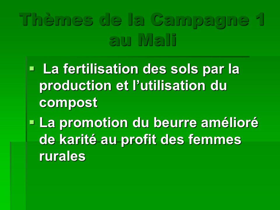Thèmes de la Campagne 1 au Mali