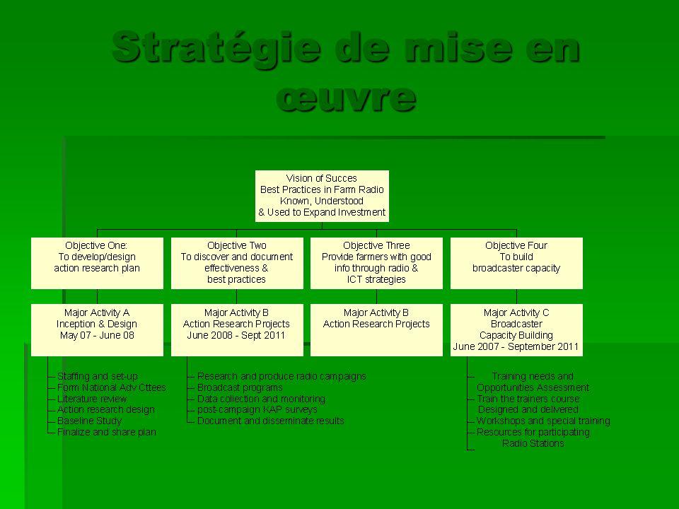 Stratégie de mise en œuvre