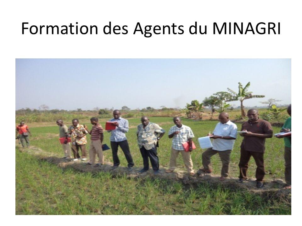 Formation des Agents du MINAGRI