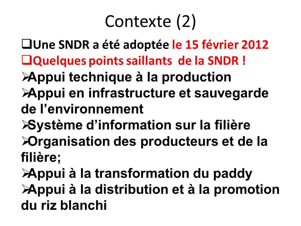 Contexte (2) Une SNDR a été adoptée le 15 février 2012