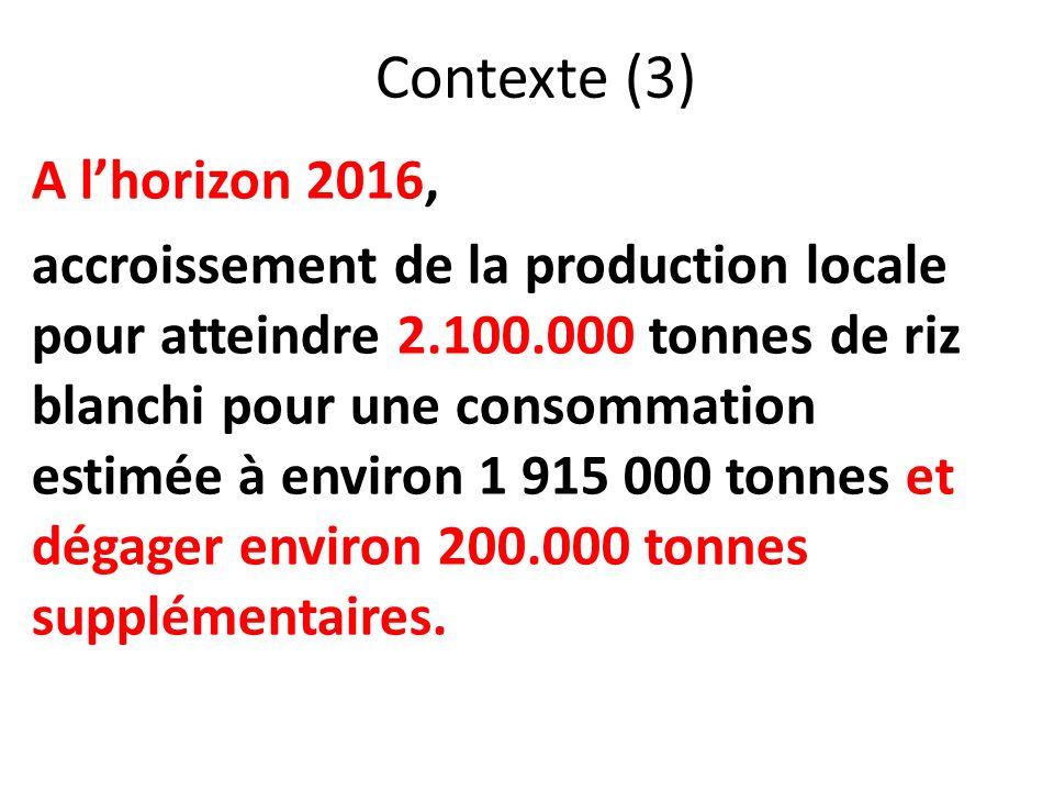 Contexte (3) A l'horizon 2016,