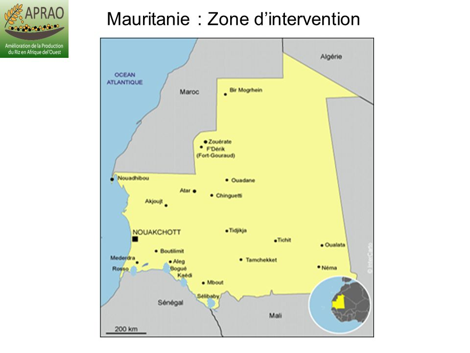 Mauritanie : Zone d'intervention