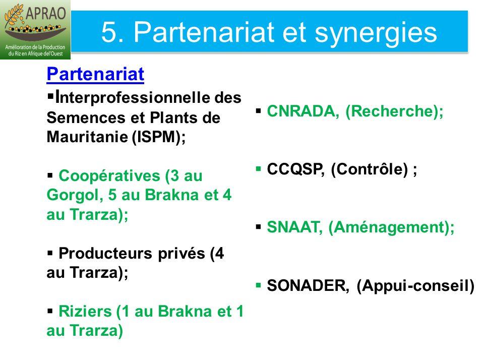 5. Partenariat et synergies
