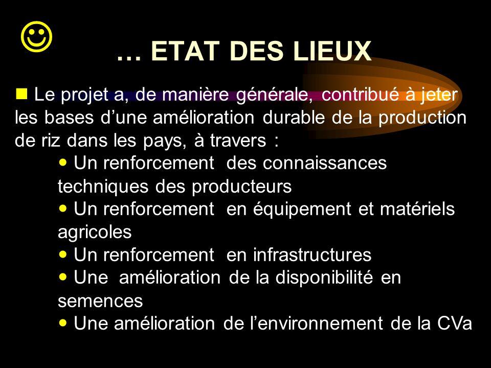 … ETAT DES LIEUX.