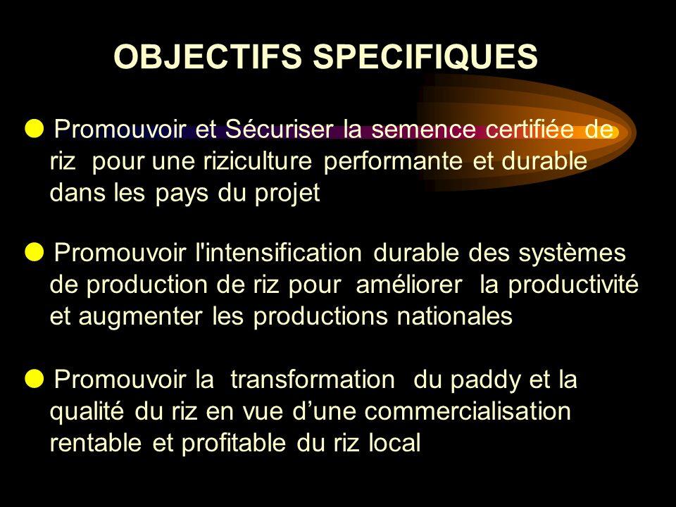OBJECTIFS SPECIFIQUES