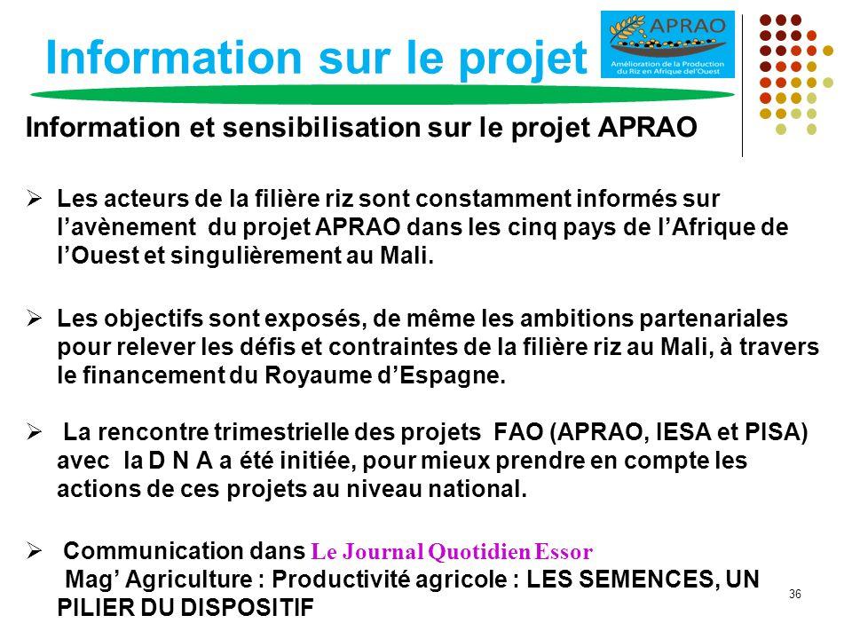 Information sur le projet