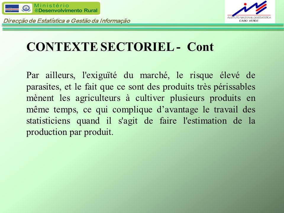 CONTEXTE SECTORIEL - Cont