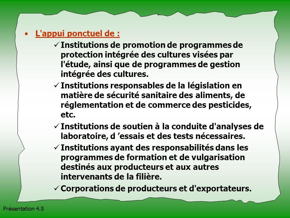 Corporations de producteurs et d exportateurs.
