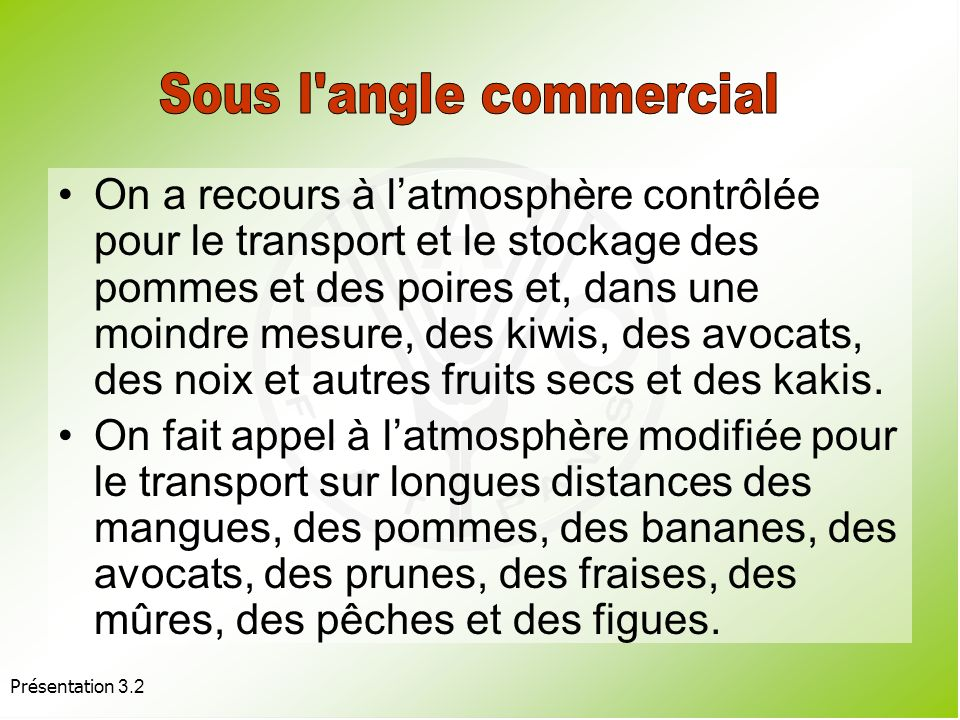 Sous l angle commercial