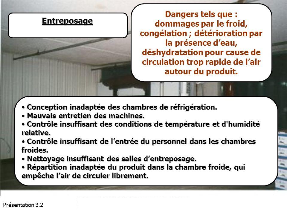 Dangers tels que :