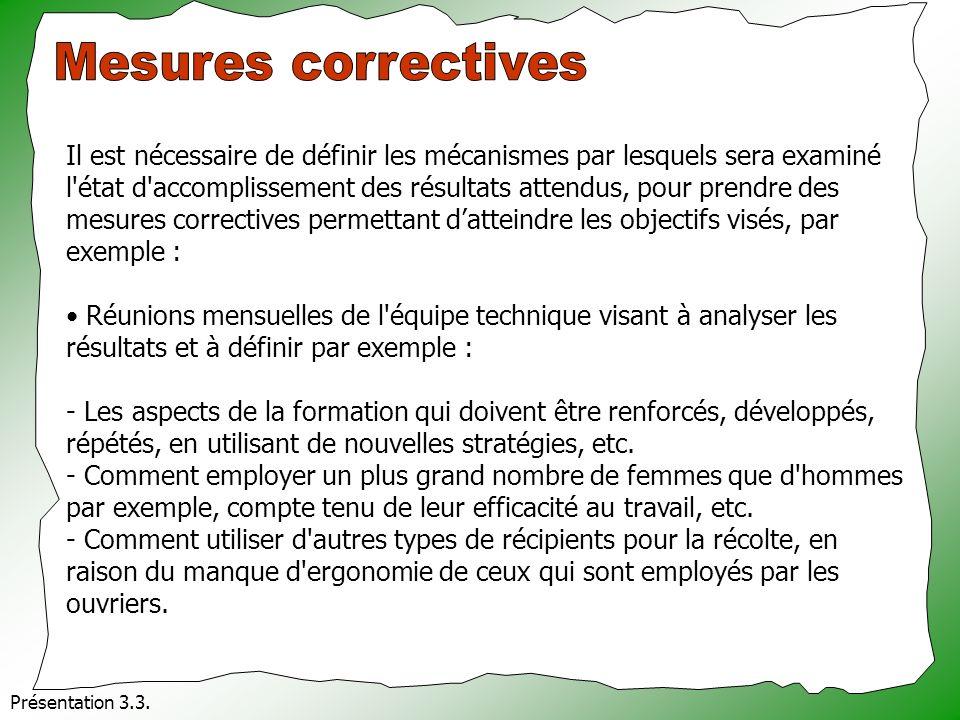 Mesures correctives