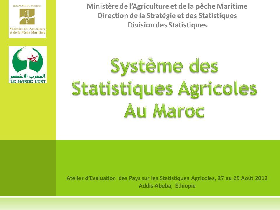 Système des Statistiques Agricoles Au Maroc