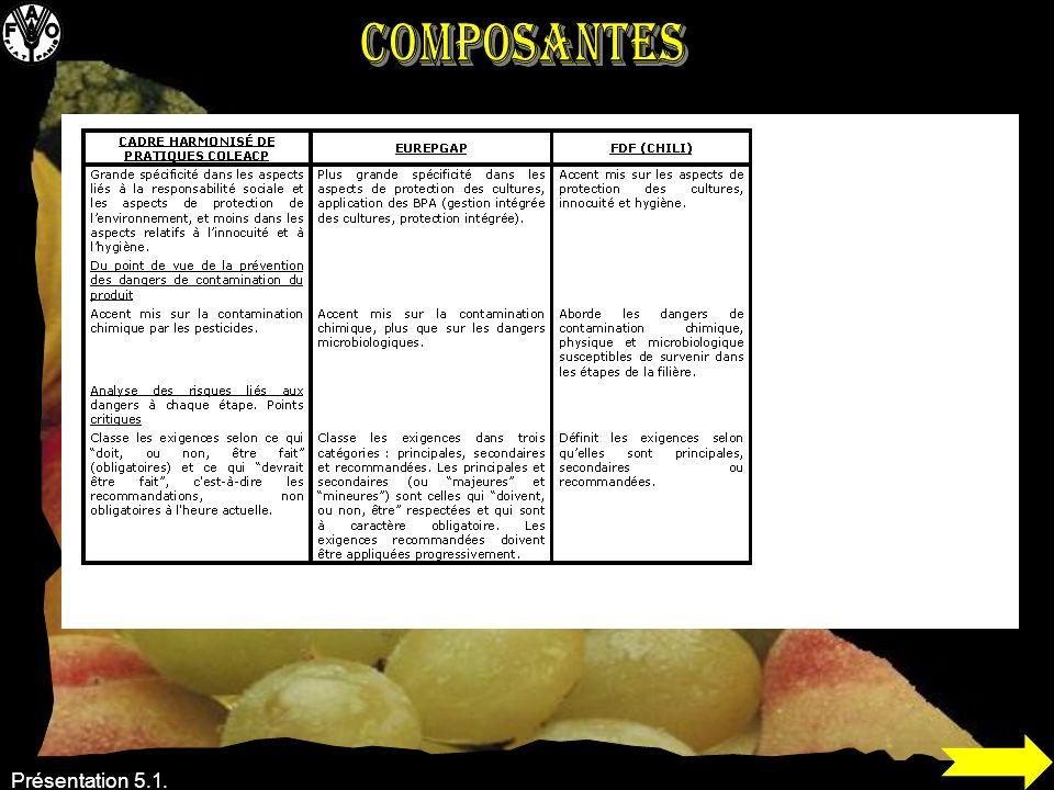 Composantes Présentation 5.1.