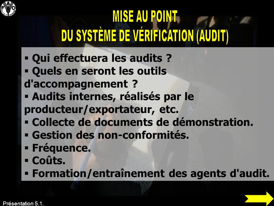 DU SYSTÈME DE VÉRIFICATION (AUDIT)