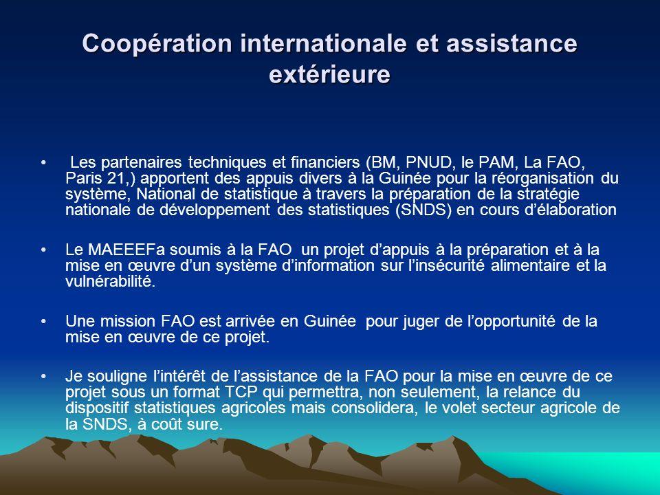 Coopération internationale et assistance extérieure