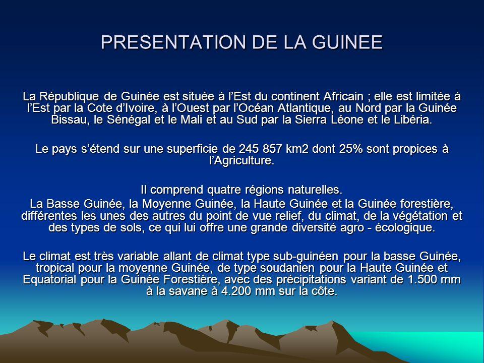 PRESENTATION DE LA GUINEE