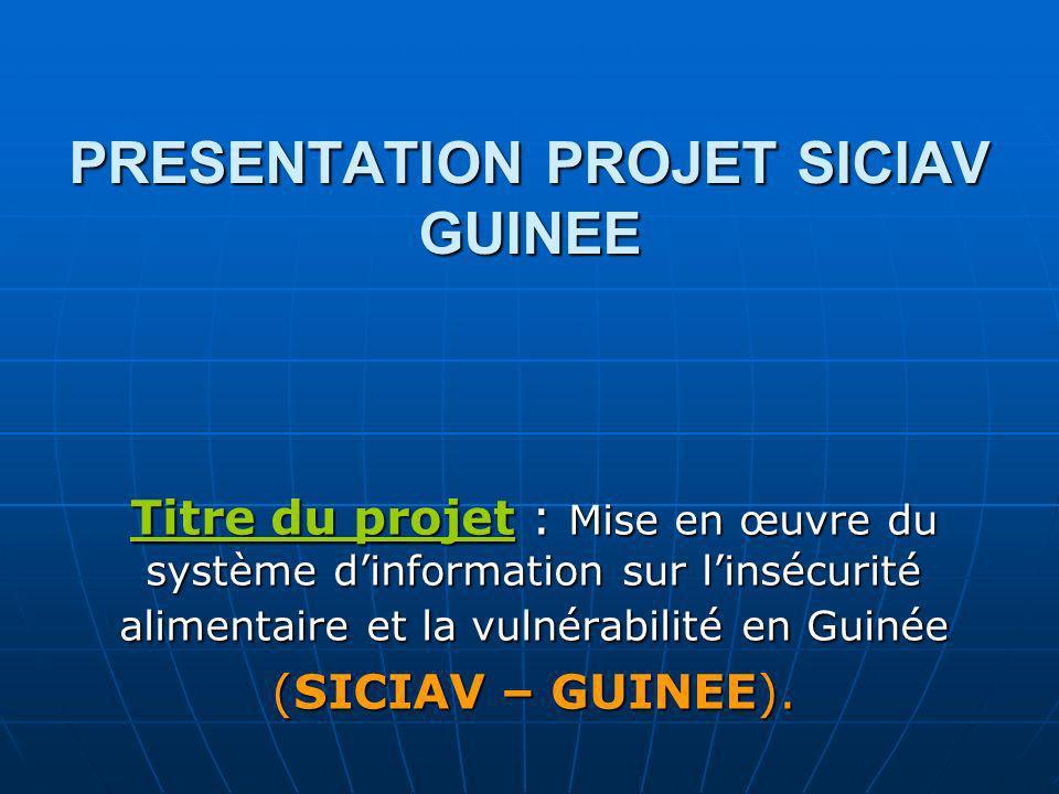 PRESENTATION PROJET SICIAV GUINEE