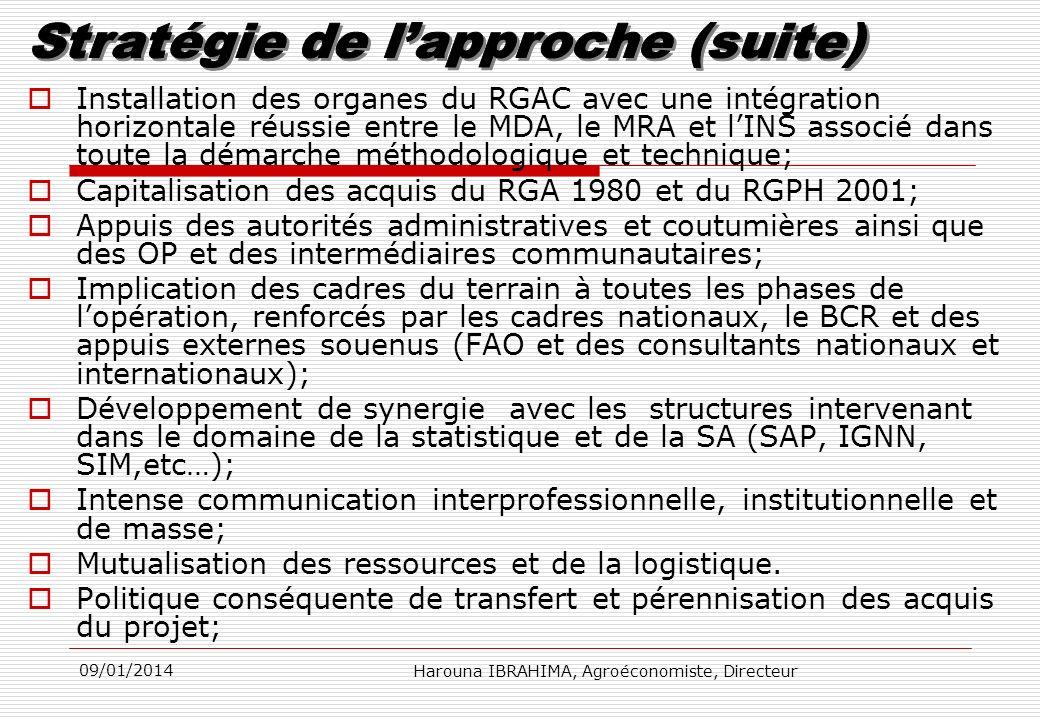 Capitalisation des acquis du RGA 1980 et du RGPH 2001;