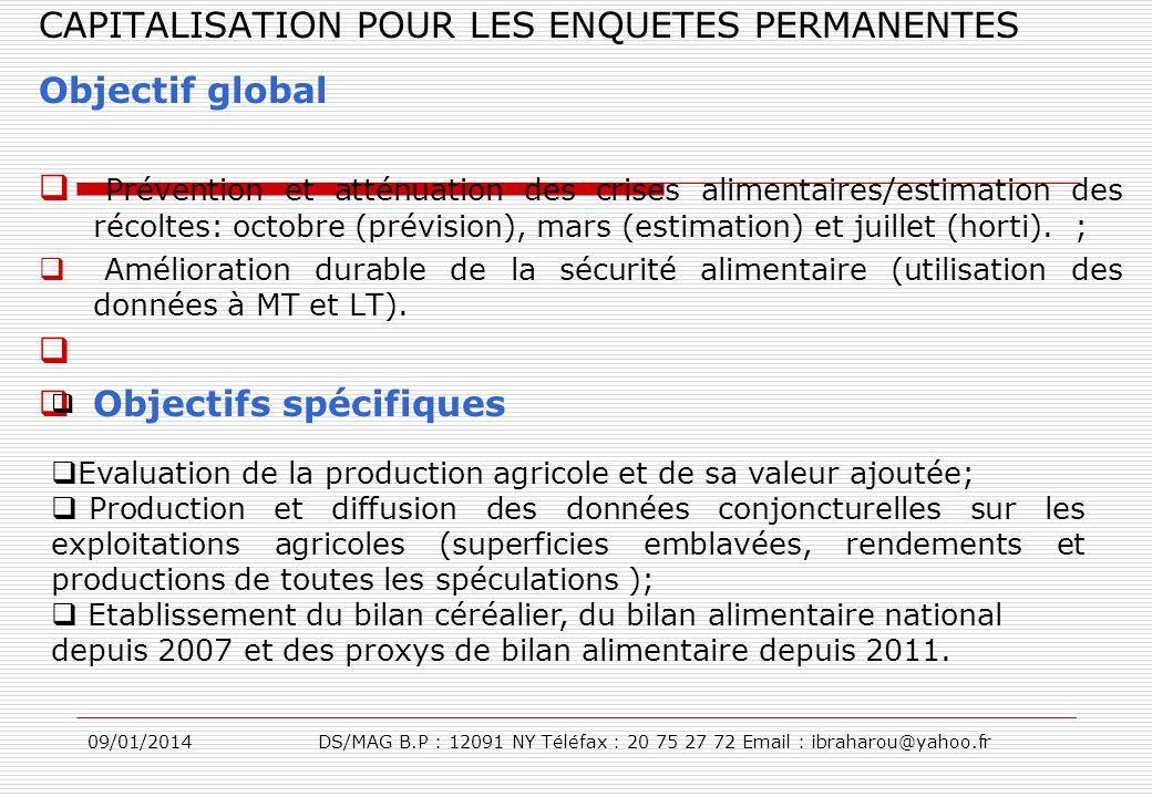 CAPITALISATION POUR LES ENQUETES PERMANENTES