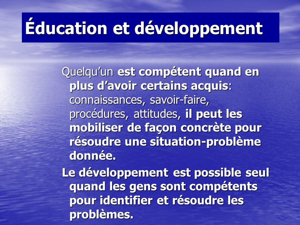Éducation et développement