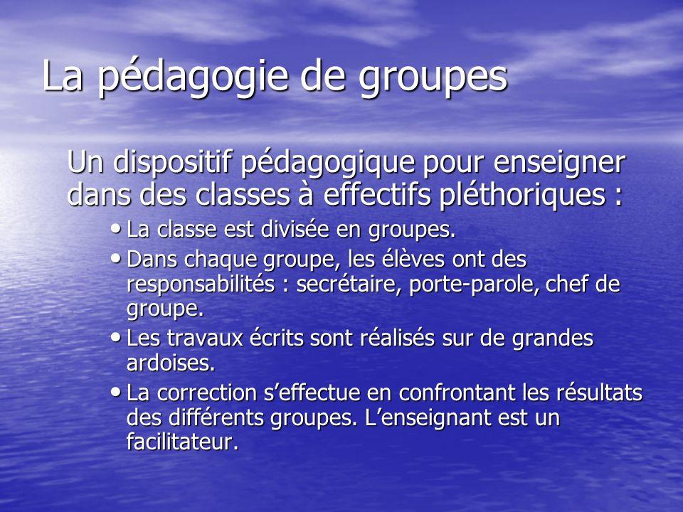 La pédagogie de groupes