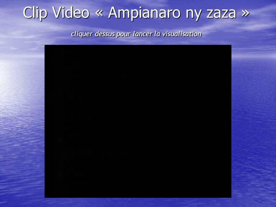 Clip Video « Ampianaro ny zaza » cliquer dessus pour lancer la visualisation