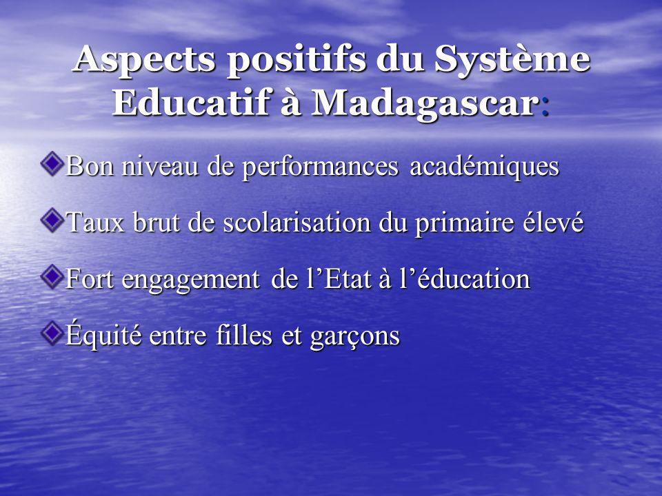 Aspects positifs du Système Educatif à Madagascar: