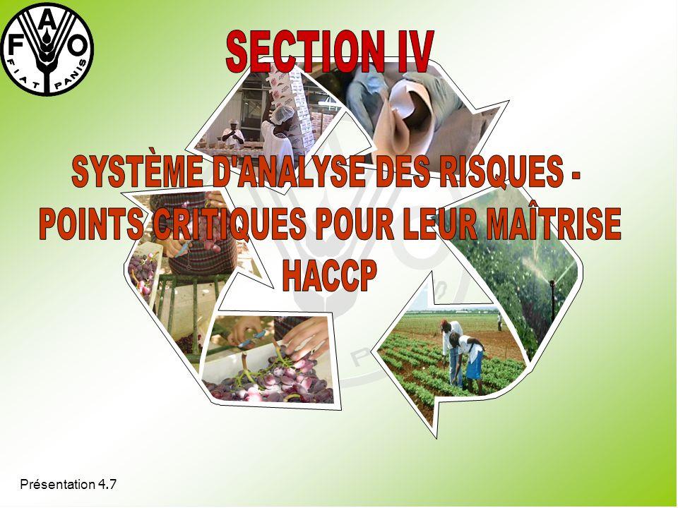 SYSTÈME D ANALYSE DES RISQUES - POINTS CRITIQUES POUR LEUR MAÎTRISE