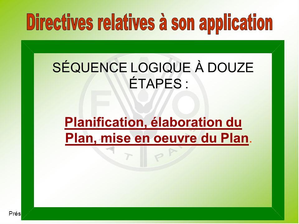 Directives relatives à son application