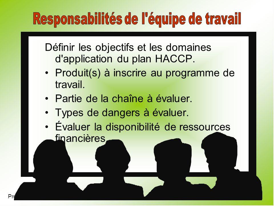 Responsabilités de l équipe de travail