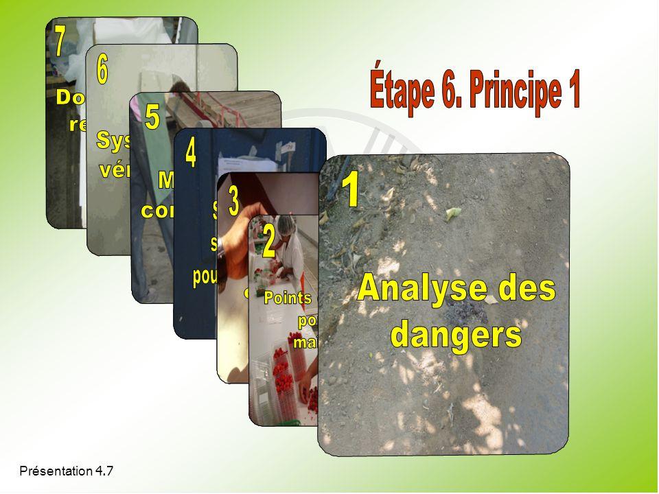 7 6 7 6 Étape 6. Principe 1 5 5 4 4 3 1 3 2 2 Documentación