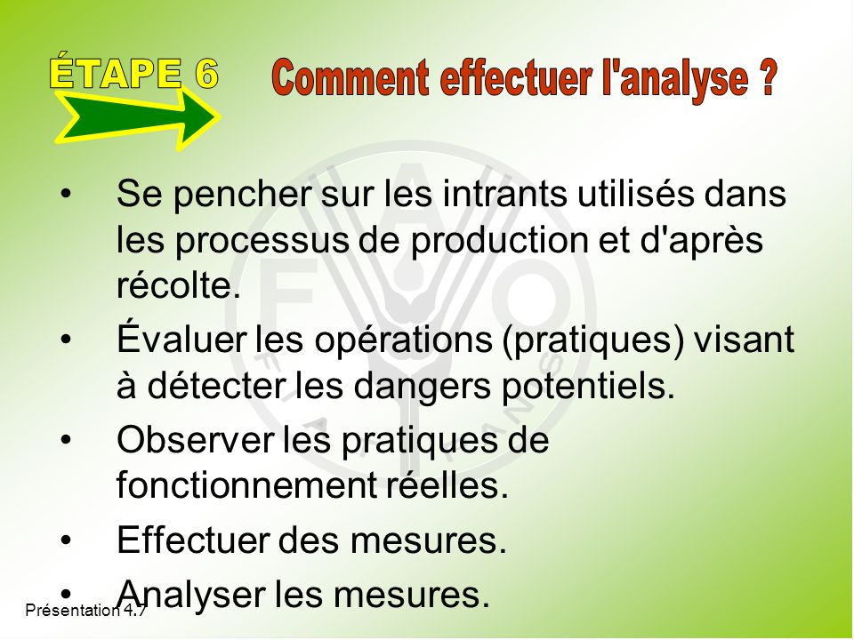 Comment effectuer l analyse