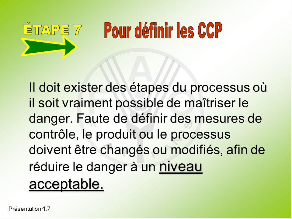 ÉTAPE 7 Pour définir les CCP