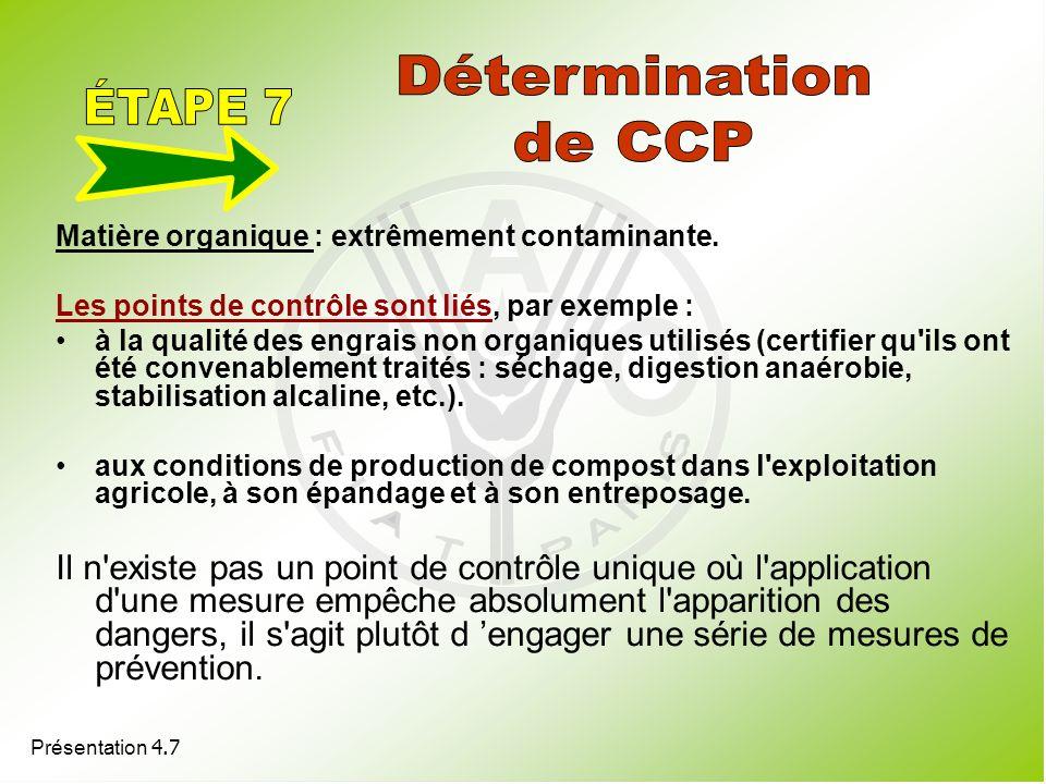 Détermination ÉTAPE 7 de CCP