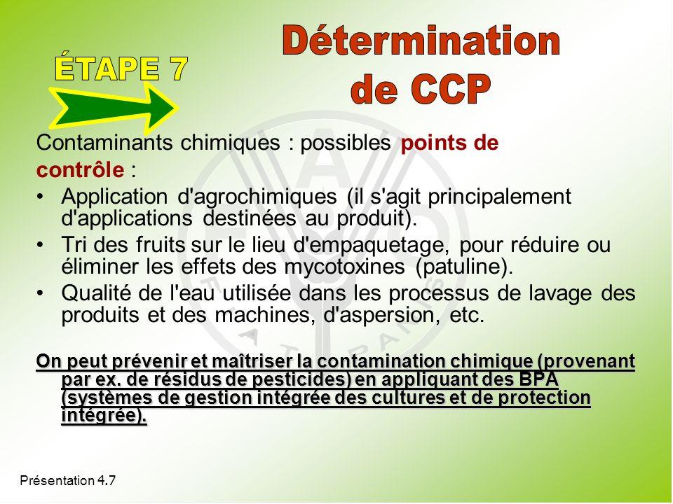 Détermination de CCP ÉTAPE 7