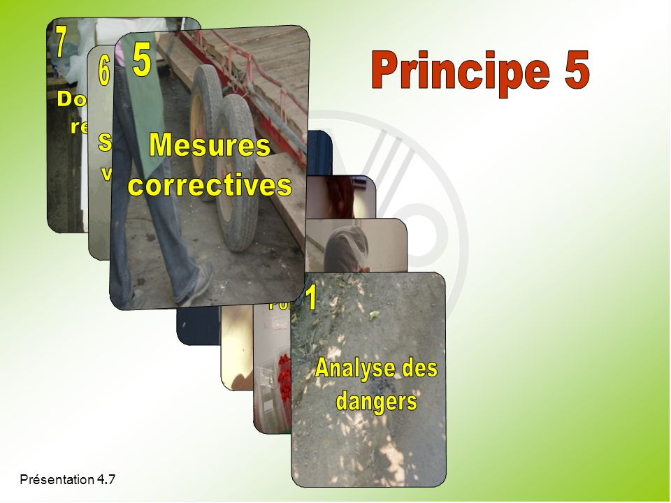 7 5 Principe 5 6 5 4 3 2 1 Dossiers et registres Système de Mesures