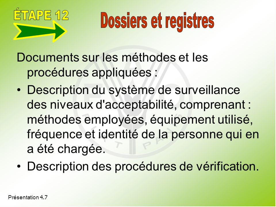 ÉTAPE 12 Dossiers et registres