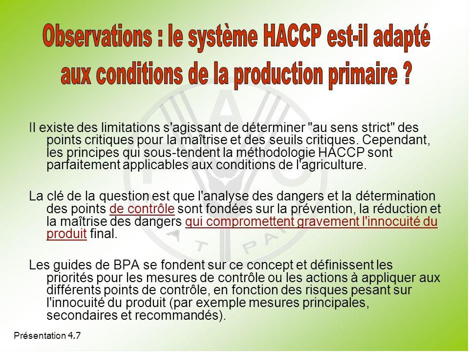 Observations : le système HACCP est-il adapté