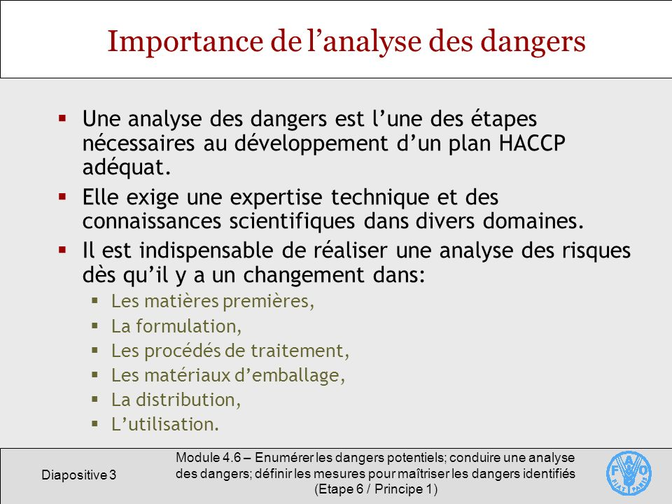Importance de l'analyse des dangers
