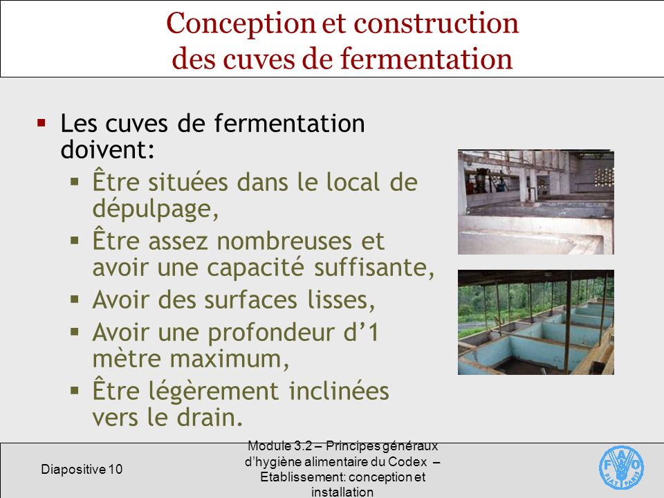 Conception et construction des cuves de fermentation