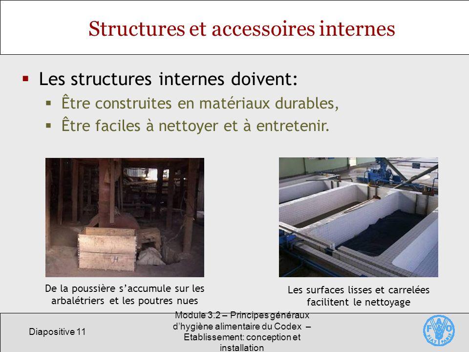Structures et accessoires internes