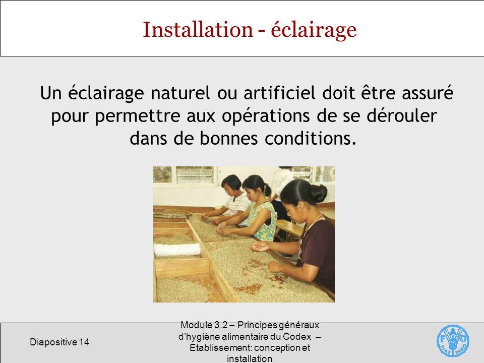 Installation - éclairage